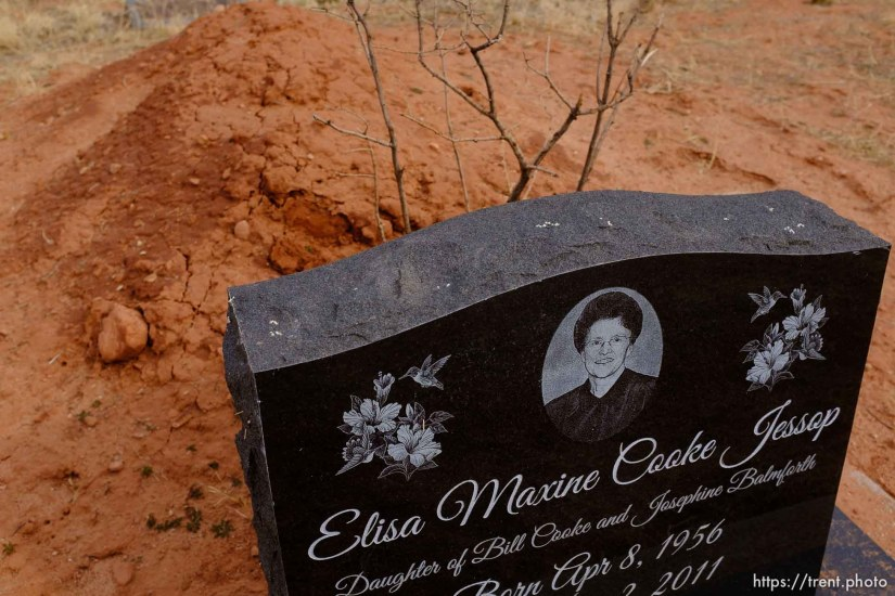 Elisa Maxine Cooke Jessop, 1956-2011. Isaac W. Carling Memorial Park, Colorado City, Friday March 16, 2018.
