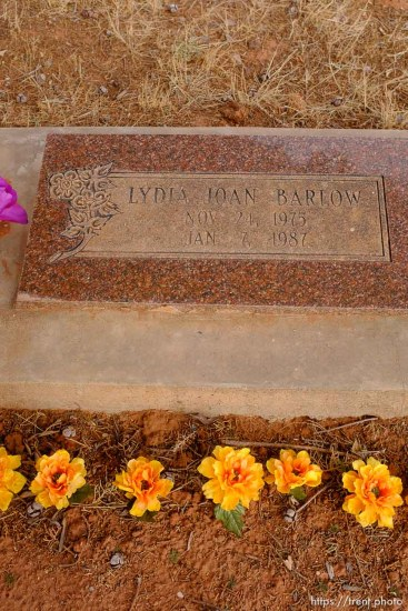 Lydia Joan Barlow, 1975-1987. Isaac W. Carling Memorial Park, Colorado City, Friday March 16, 2018.