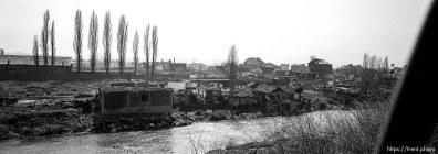 Destruction in South Mitrovica
