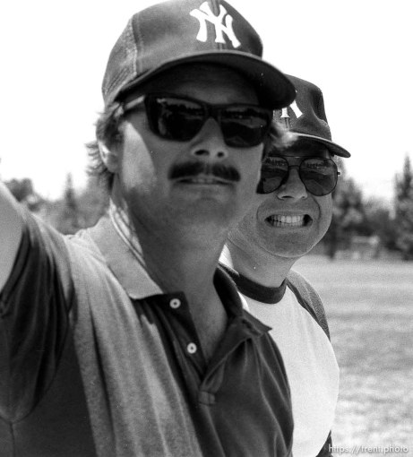 Coaches at Yankee baseball game