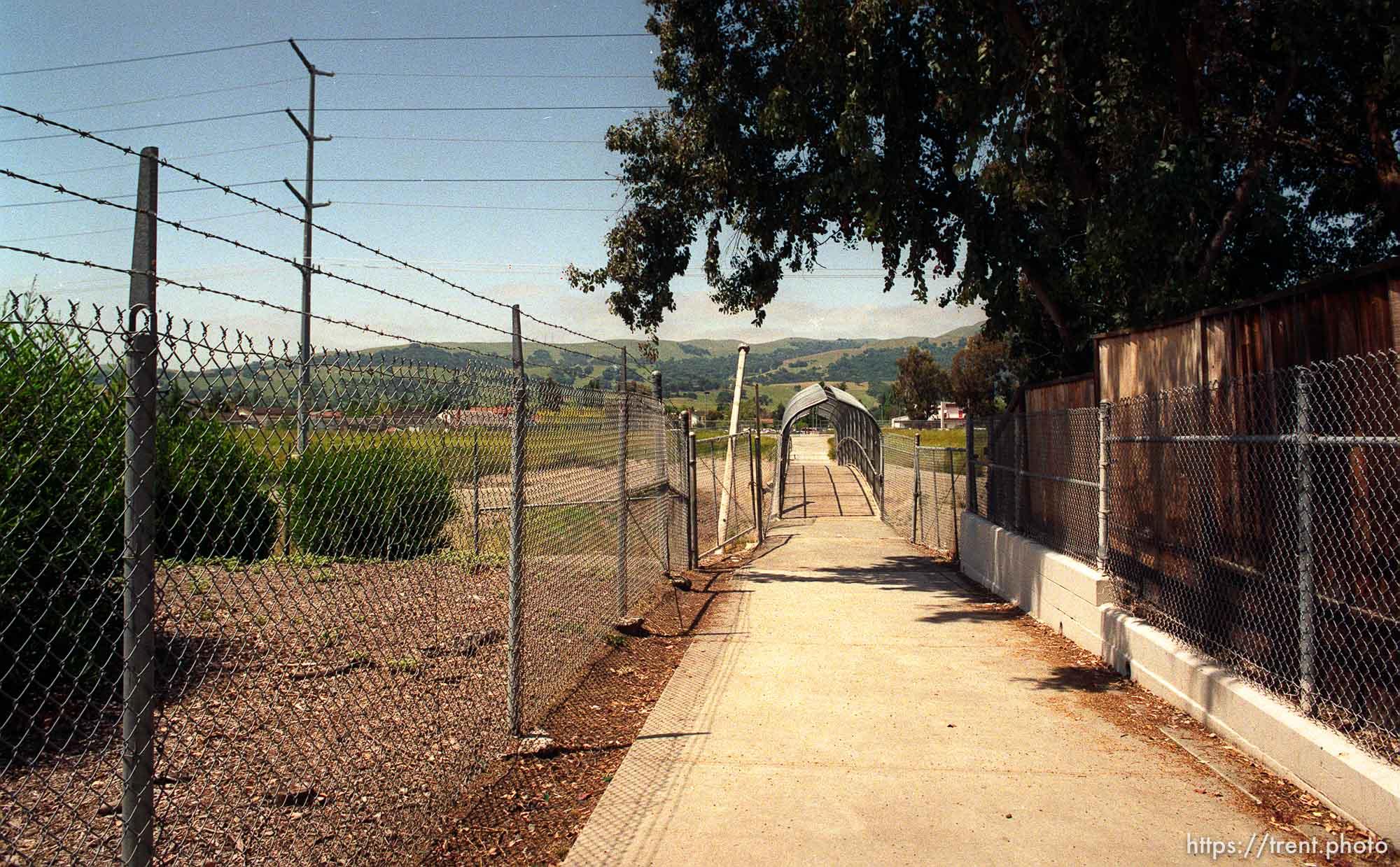 The bridge leading to California High School