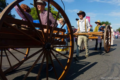 (Trent Nelson | The Salt Lake Tribune) The Days of '47 Parade in Salt Lake City, Tuesday July 24, 2018.