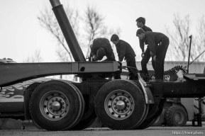 Trent Nelson   The Salt Lake Tribune man and boys working on truck, Thursday February 25, 2016.