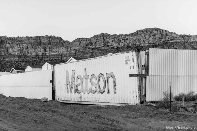 Trent Nelson   The Salt Lake Tribune wall around bishop's storehouse, Thursday February 25, 2016.
