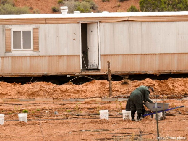 FLDS woman working, Friday April 15, 2016.