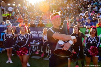 (Trent Nelson   The Salt Lake Tribune) BYU cheerleaders in the final moments of the 7-6 loss as BYU hosts Northern Illinois, NCAA football in Provo, Saturday Oct. 27, 2018.