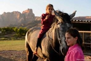 Trent Nelson | The Salt Lake Tribune flds girl on horse, Monday May 8, 2017.