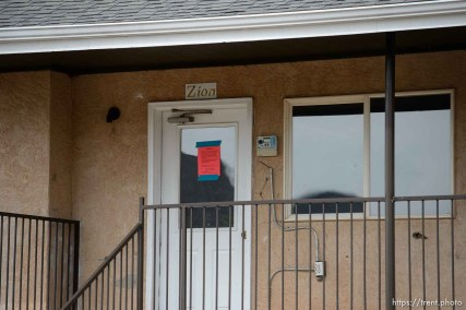 Trent Nelson | The Salt Lake Tribune The eviction of an empty home in Hildale, Tuesday May 9, 2017.