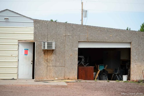 Trent Nelson   The Salt Lake Tribune The eviction of an empty home in Hildale, Tuesday May 9, 2017.