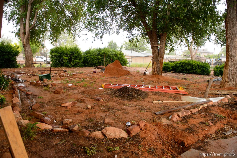 Trent Nelson   The Salt Lake Tribune UEP eviction of property at 555 N Lauritzen Ave, Colorado City, AZ, Wednesday May 10, 2017. yard