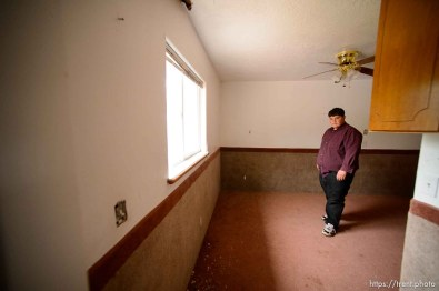 Trent Nelson | The Salt Lake Tribune Marvin Darger in the home he lived in, just before the UEP evicted his family from property at 555 N Lauritzen Ave, Colorado City, AZ, Wednesday May 10, 2017.