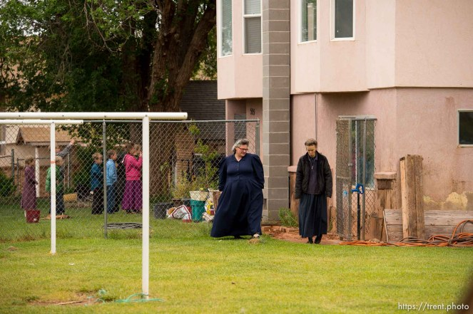 Trent Nelson | The Salt Lake Tribune UEP eviction of property at 555 N Lauritzen Ave, Colorado City, AZ, Wednesday May 10, 2017. Two FLDS women who lived at the property, Shannon Darger and Liz.