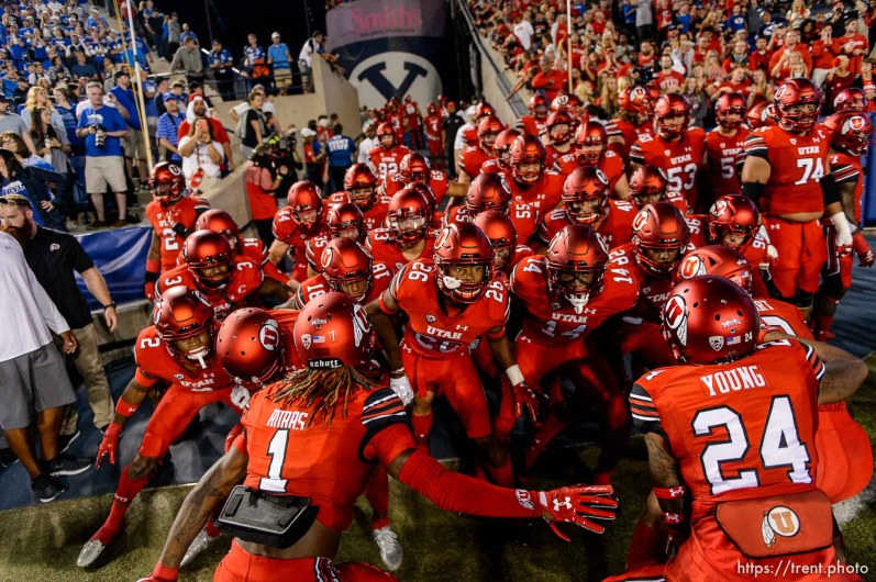 (Trent Nelson | The Salt Lake Tribune) as BYU hosts Utah, NCAA football in Provo, Saturday September 9, 2017.