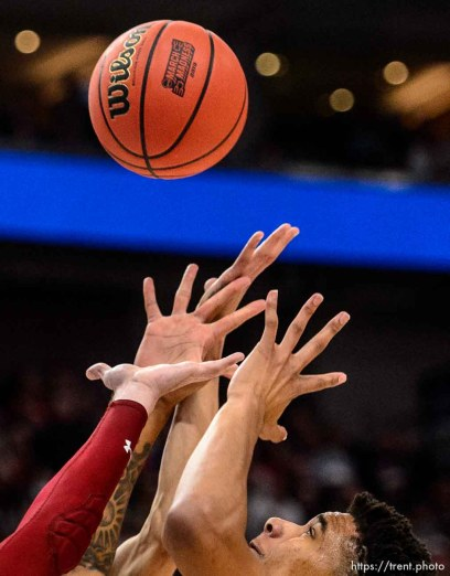 (Trent Nelson | The Salt Lake Tribune) ;a5; as Auburn faces New Mexico State in the 2019 NCAA Tournament in Salt Lake City on Thursday March 21, 2019.