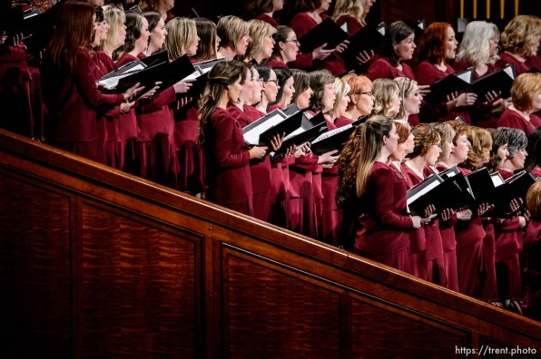 (Trent Nelson   The Salt Lake Tribune) The Tabernacle Choir at Temple Square during the afternoon session of the189th Annual General Conference of The Church of Jesus Christ of Latter-day Saints in Salt Lake City on Sunday April 7, 2019.