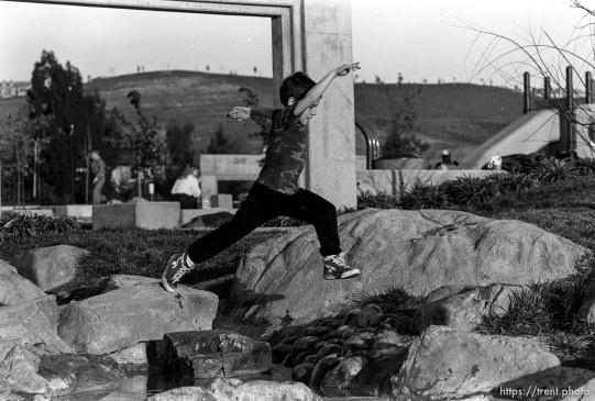 Kids playing in San Ramon City Center Park, 1987.
