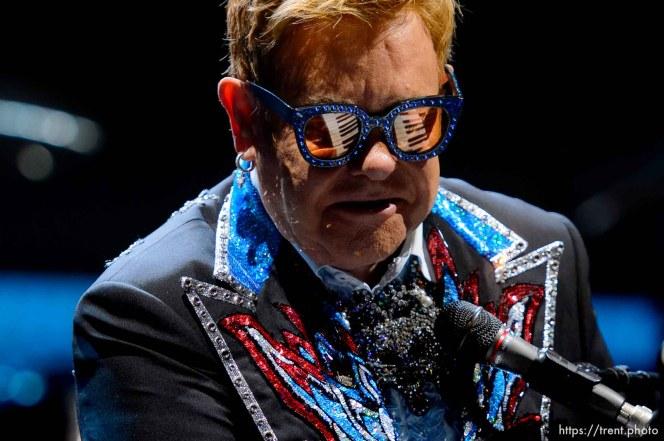 (Trent Nelson | The Salt Lake Tribune) Elton John performs in Salt Lake City on Wednesday Sept. 4, 2019.
