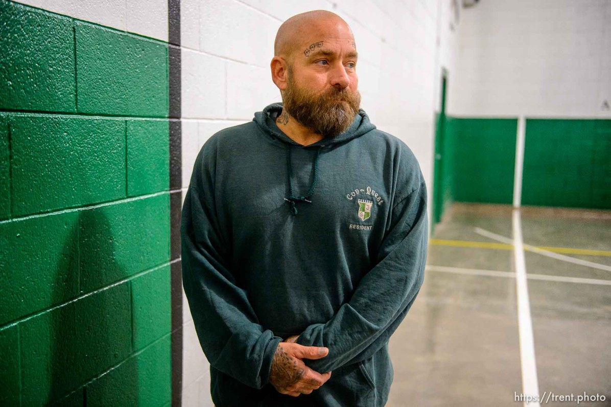 (Trent Nelson | The Salt Lake Tribune) Jeff Zorad, an inmate at the Utah State Prison, at a meeting of the New Visions Speech Club in the prison's Promontory facility in Draper on Tuesday Dec. 3, 2019.