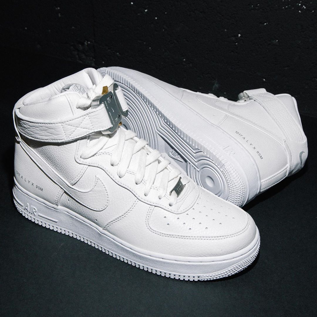 1017 Alyx 9SM x Nike Air Force 1 High White