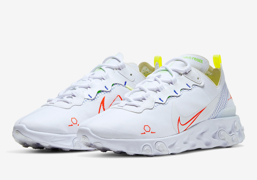 Nike React Element 55 Neon Schematic