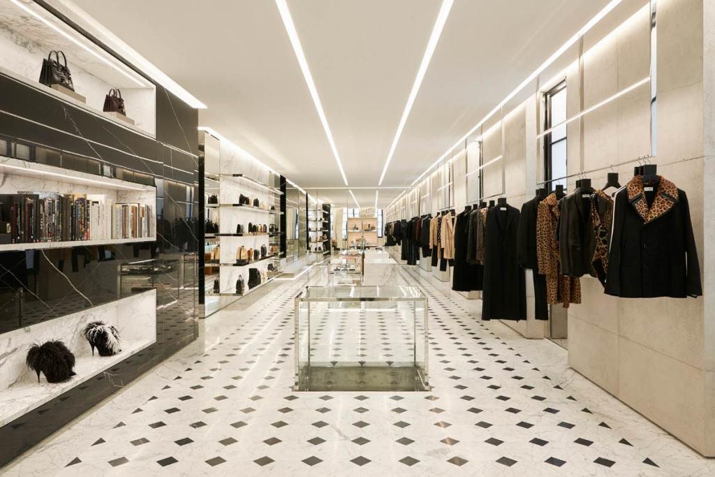 Boutique Saint Laurent Rive Droite intérieur