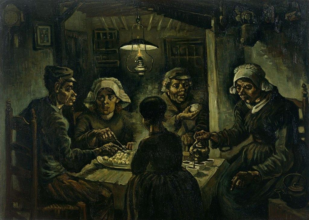 Les Mangeurs de pommes de terre, Van Gogh 1885