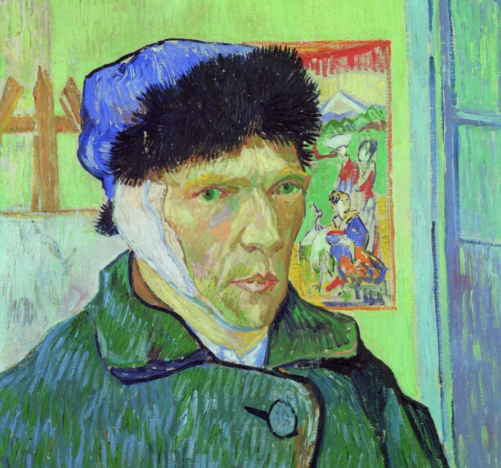 Autoportrait à l'oreille bandée, Van Gogh 1889