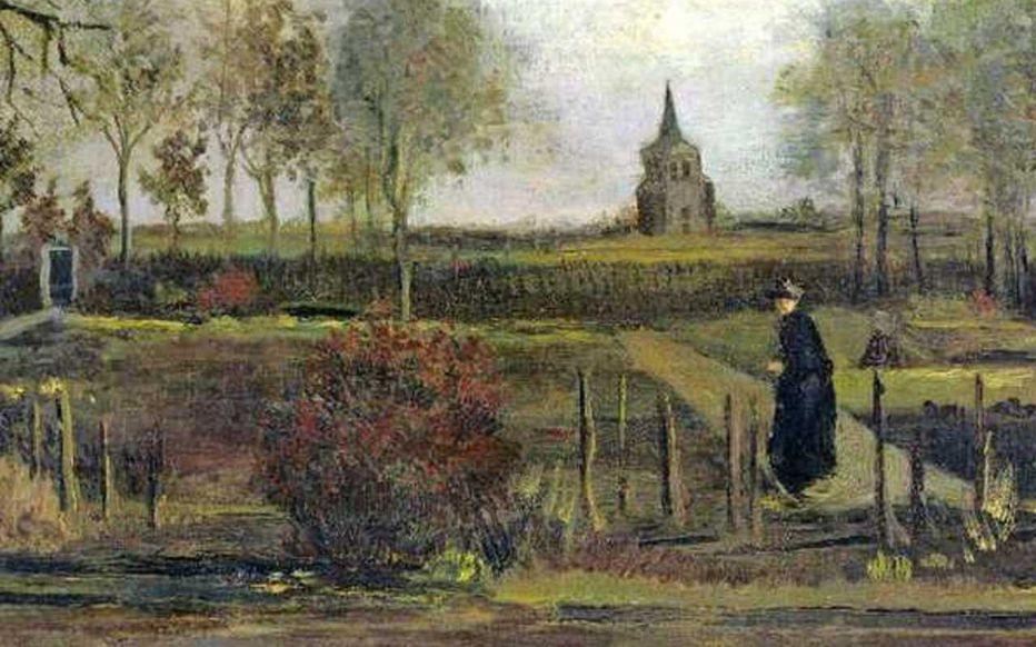 Le jardin du presbytère de Nuenen au printemps, Van Gogh 1884