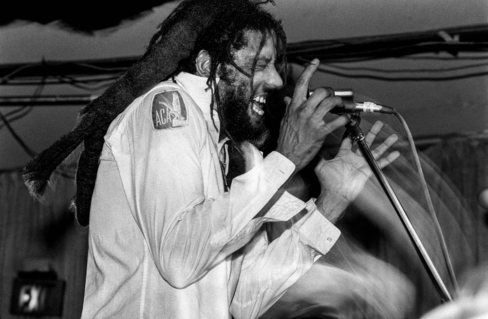 Bad Brains, with singer HR, performing at the Speedway Cafe in Salt Lake City, Utah, August 30, 1989.