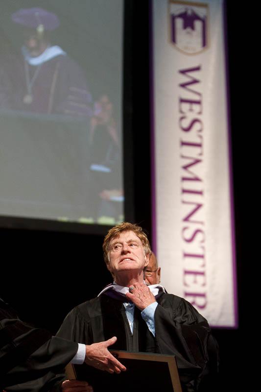 robert redford, westminster college graduation