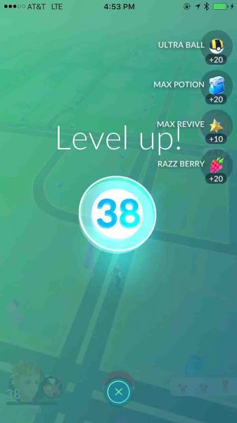 pokemon go, level 38