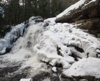 Waterfall with fast shutter speed