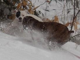 Fiyero and Idina facing off in the snow