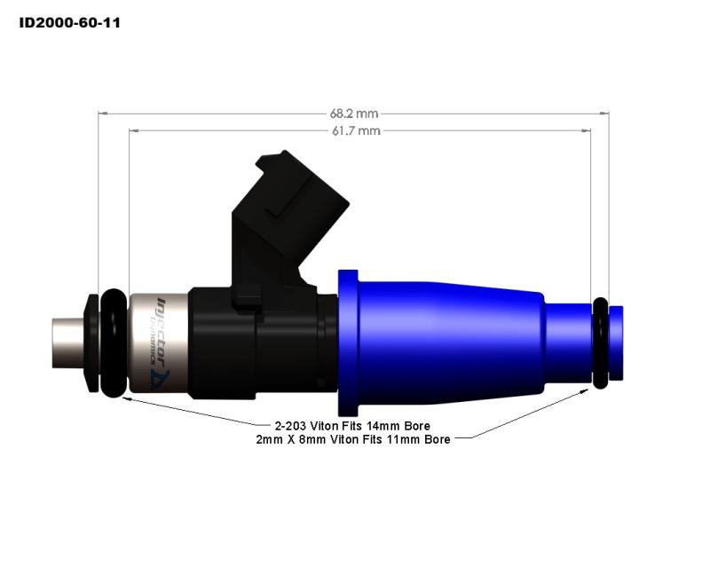 Injector Dynamics ID2000 1993-1998 Toyota Supra / 2JZ-GE