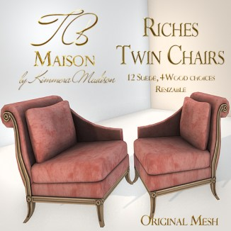 TB Maison Riches Twin Chairs