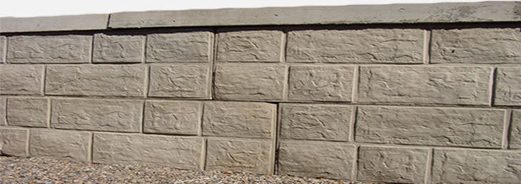Interlocking Concrete Blocks Retaining Walls