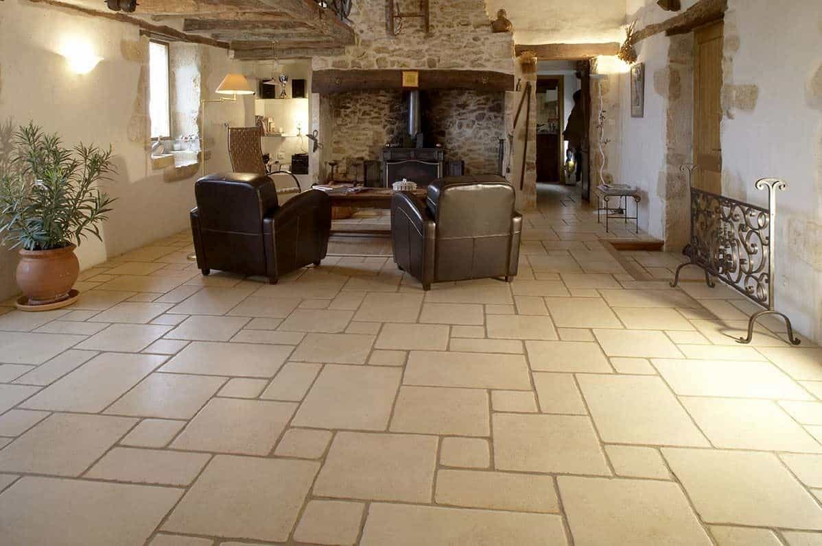 natural stone floor tiles design