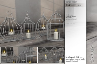Sway's [Birdcage]Candleholder silver