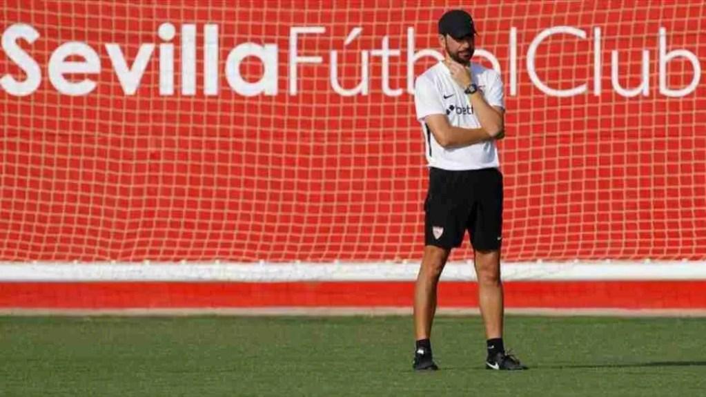 Machín entrenamiento Sevilla.