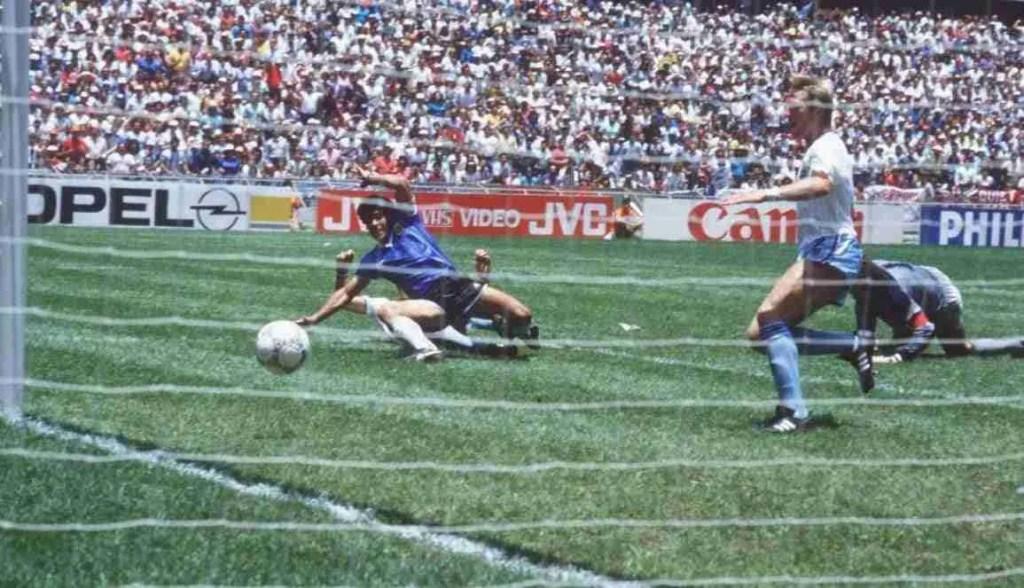 Gol de Maradona a Inglaterra. Mundial de Mexico 1986