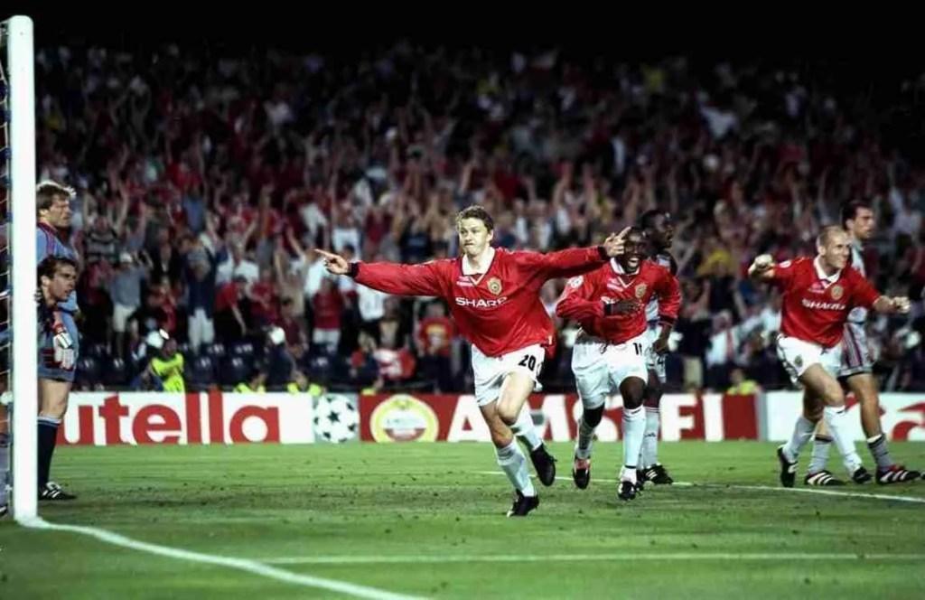 Solskjaer celebra gol Manchester United Bayern Munich final Champions 1999