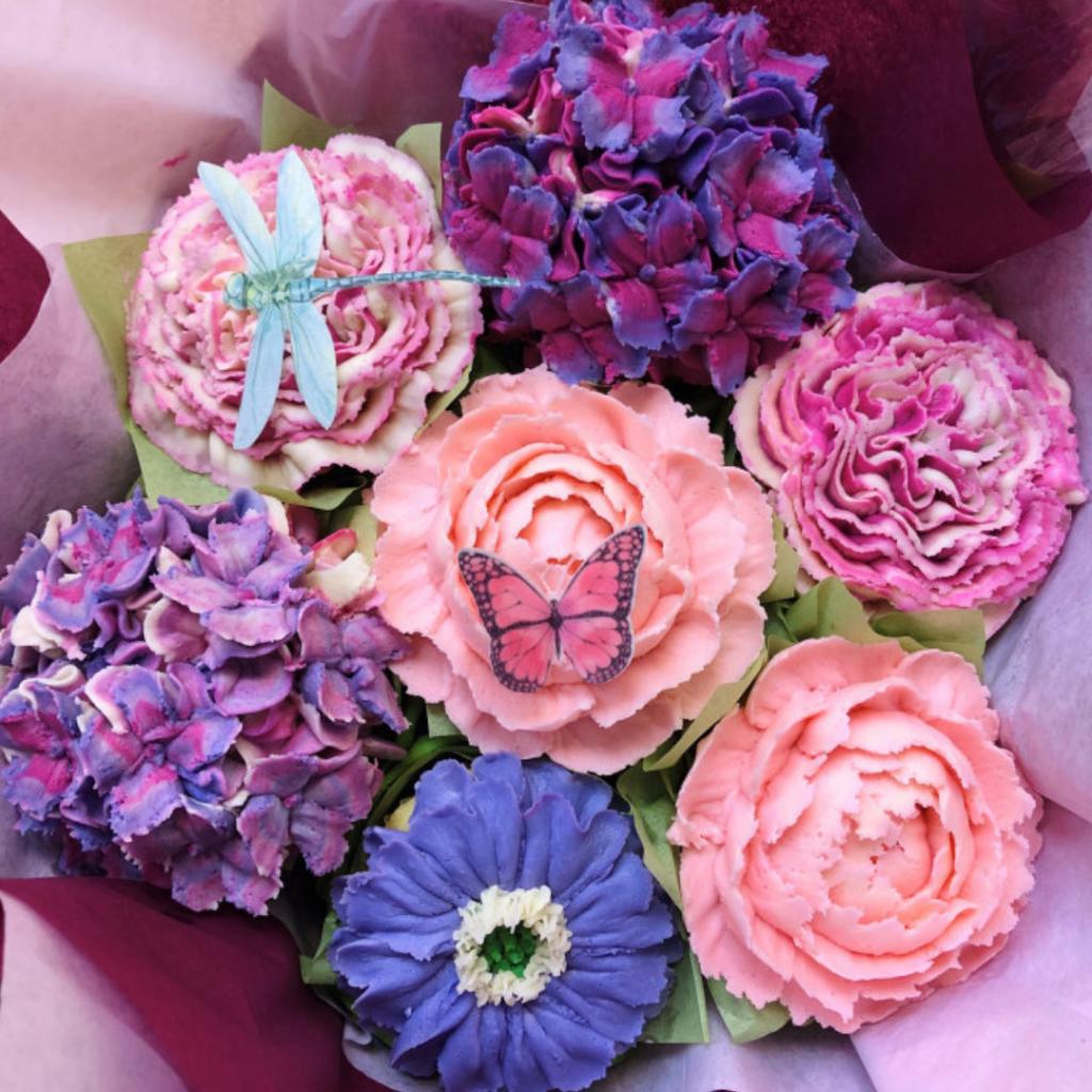 Lifelike Flower Cupcakes To Order Online