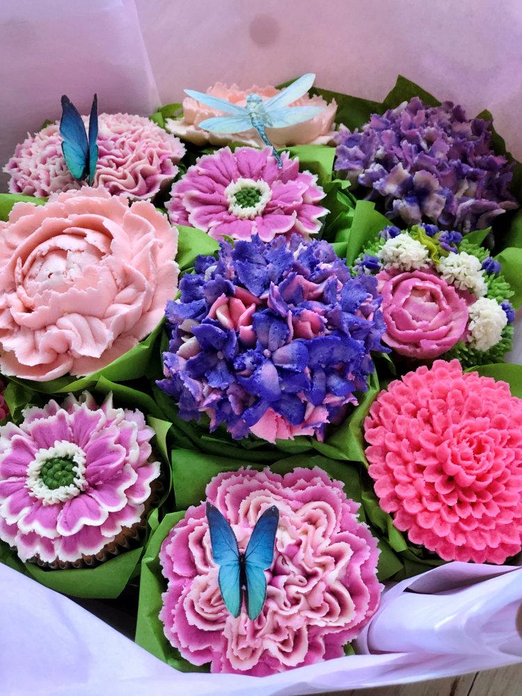 custom floral cupcakes pennsylvania