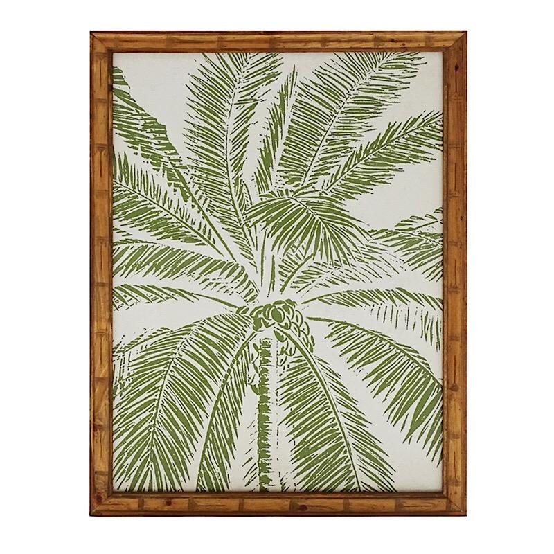 Palm tree timber wall art