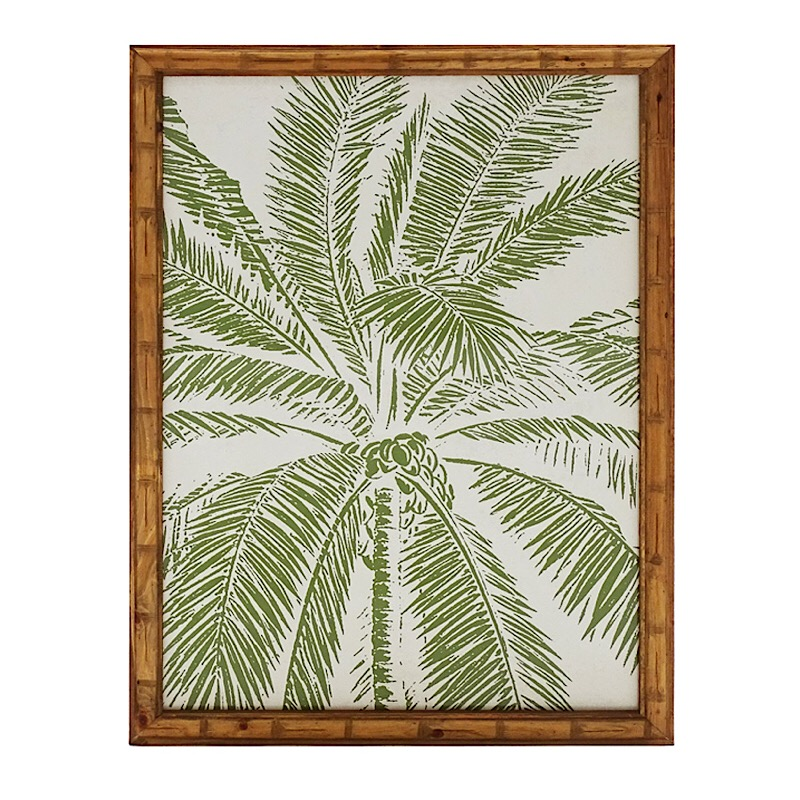 Palm tree timber wall art