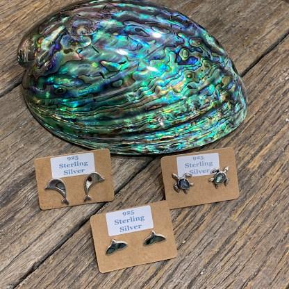925 sterling silver Paua shell studs