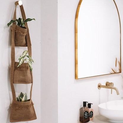 Hessian plant hanging