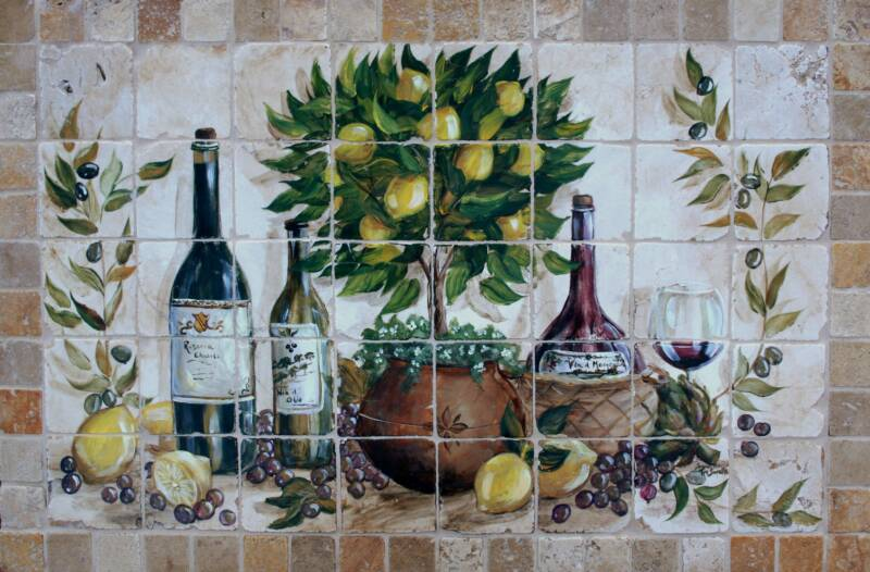Hand-Painted Tile Murals
