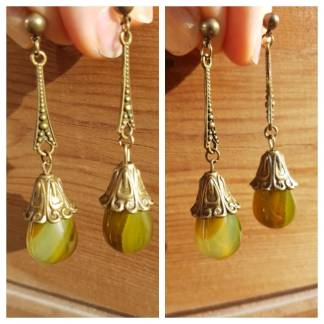 boucles vintage agate