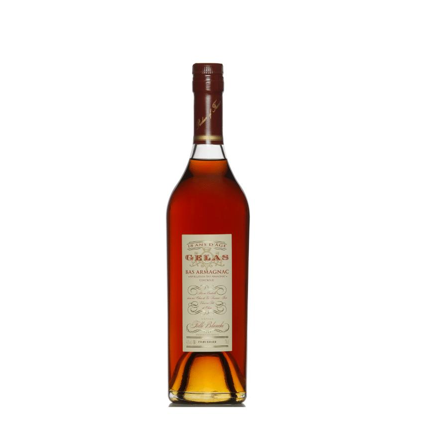 Visuel bouteille bas-armagnac Gelas | 18 ans | Folle Blanche